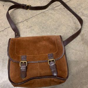 Boden suede leather bag